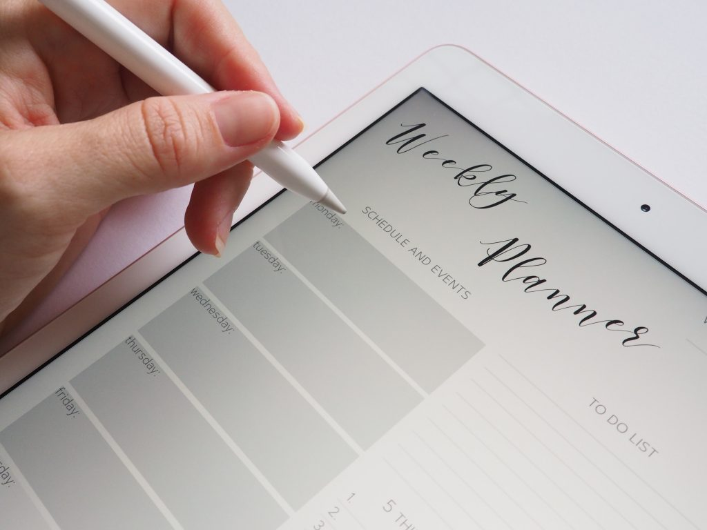 photo of how to stay consistent with exercise with a planner