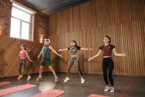 learn how to stay consistent with exercise by joining a group