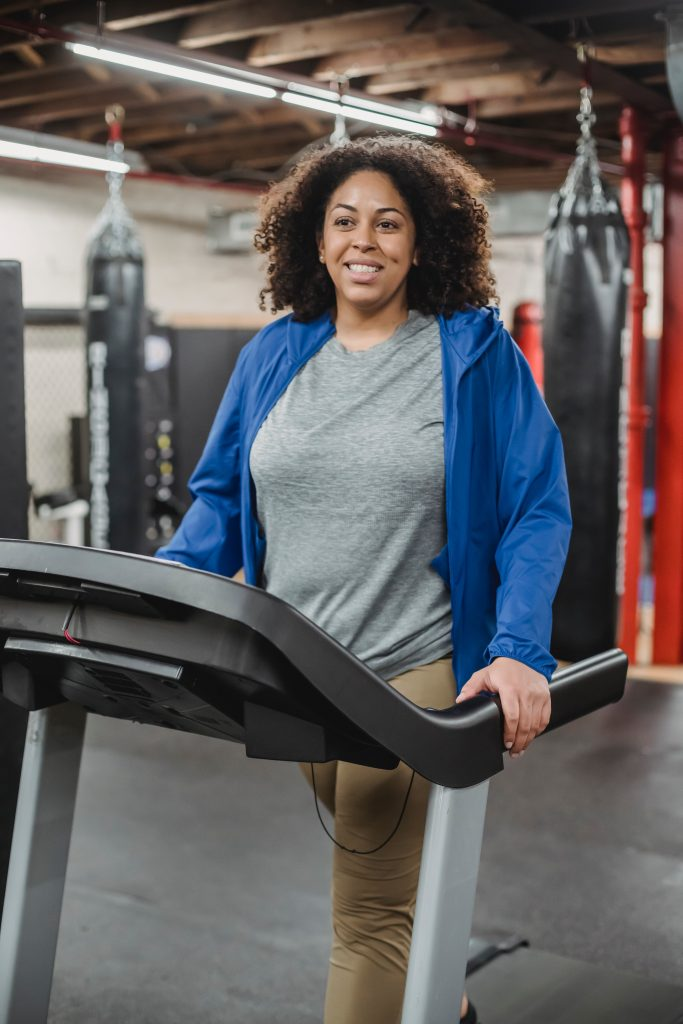 Woman working out to get back in shape.