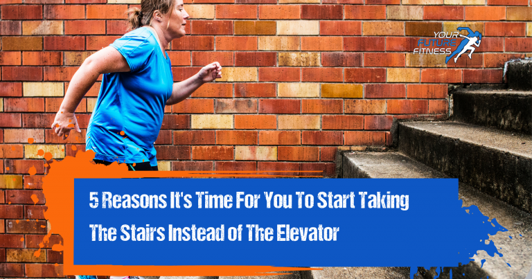 Taking the stairs instead of the elevator header photo